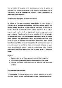 ELABORACION DE FERTILEANTES ORGANICOS