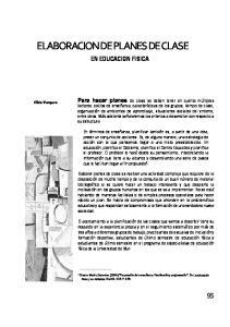 ELABORACION DE PLANES DE CLASE