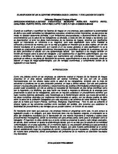 ELABORACION DE UN ALGORITMO EPIDEMIOLOGICO LABORAL Y EVALUACION DE COSTO