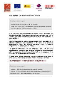 Elaborar un Curriculum Vitae