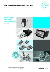 Elan Schaltelemente GmbH & Co. KG. SHGV safety. Catalogue SHGV