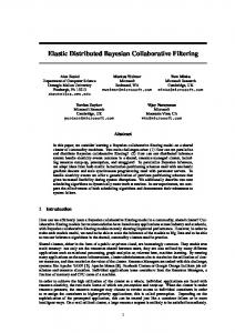 Elastic Distributed Bayesian Collaborative Filtering