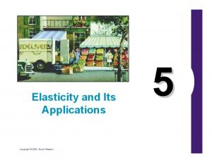 Elasticity and Its Applications. Copyright 2004 South-Western