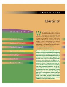Elasticity CHAPTER FOUR. Price Elasticity of Demand. Determinants of Price Elasticity. Price Elasticity Graphically