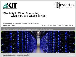 Elasticity in Cloud Computing: What It Is, and What It Is Not