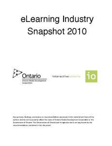 elearning Industry Snapshot 2010