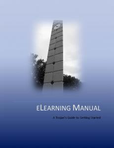 ELEARNING MANUAL. A Trojan s Guide to Getting Started
