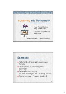 elearning mit Mathematik