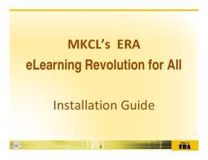 elearning Revolution for All Installation Guide
