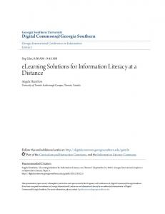 elearning Solutions for Information Literacy at a Distance