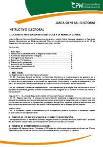 ELECCIONES DE REPRESENTANTES DE LOS SOCIOS A LA ASAMBLEA GENERAL