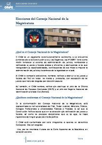 Elecciones del Consejo Nacional de la Magistratura