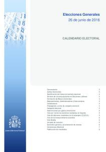 Elecciones Generales 26 de junio de 2016