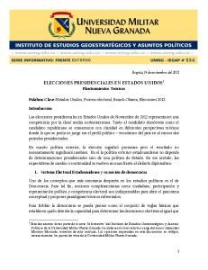 ELECCIONES PRESIDENCIALES EN ESTADOS UNIDOS 1
