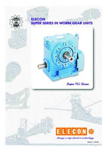 ELECON SUPER SERIES IN WORM GEAR UNITS