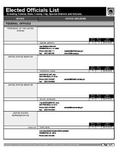 Elected Officials List