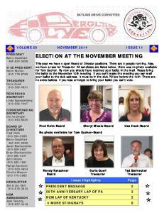 ELECTION AT THE NOVEMBER MEETING