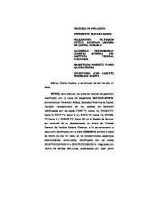 ELECTORAL. México, Distrito Federal, a veinticuatro de abril de dos mil trece