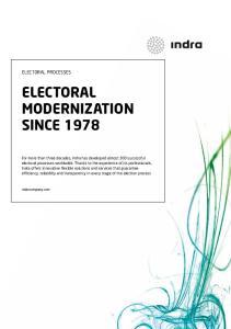 ELECTORAL MODERNIZATION SINCE 1978
