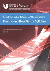Electric and Bass Guitar Syllabus