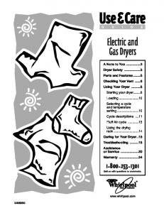 Electric and Gas Dryers