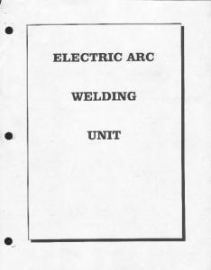 ELECTRIC ARC WELDING UNIT