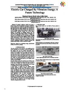 Electric Car Charged By Vibration Energy: A Future Technology