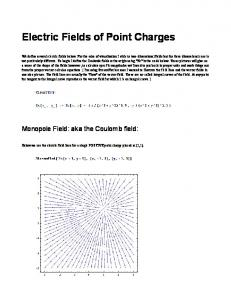 Electric Fields of Point Charges