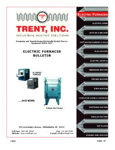 ELECTRIC FURNACE ELECTRIC FURNACES BULLETIN ELECTRIC OVENS KETTLES & MELTERS
