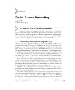Electric Furnace Steelmaking