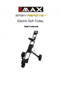 Electric Golf Trolley. User s manual