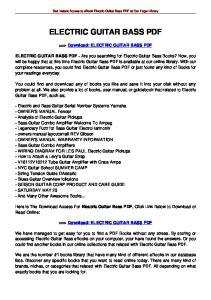 ELECTRIC GUITAR BASS PDF