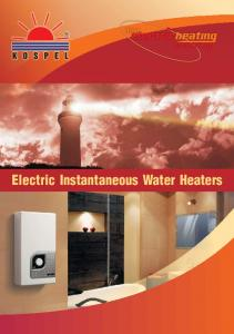 Electric Instantaneous Water Heaters