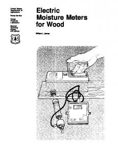 Electric Moisture Meters for Wood