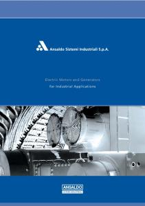 Electric Motors and Generators for Industrial Applications