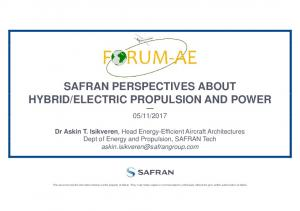 ELECTRIC PROPULSION AND POWER