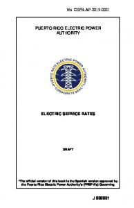 ELECTRIC SERVICE RATES