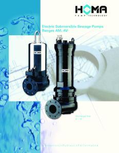 Electric Submersible Sewage Pumps Ranges AM, AV