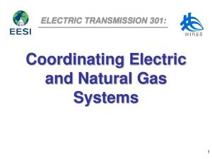 ELECTRIC TRANSMISSION 301: Coordinating Electric and Natural Gas Systems