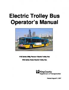 Electric Trolley Bus Operator s Manual