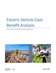 Electric Vehicle Cost- Benefit Analysis. Plug-in Electric Vehicle Cost-Benefit Analysis: Massachusetts