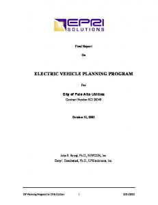 ELECTRIC VEHICLE PLANNING PROGRAM