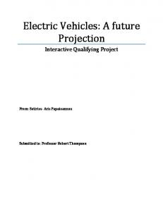 Electric Vehicles: A future Projection