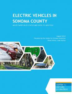 ELECTRIC VEHICLES IN SONOMA COUNTY WHITE PAPER ON EV STATUS AND PATHS TO ADOPTION