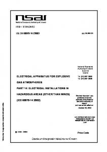 ELECTRICAL APPARATUS FOR EXPLOSIVE