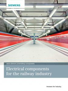 Electrical components for the railway industry Answers for industry