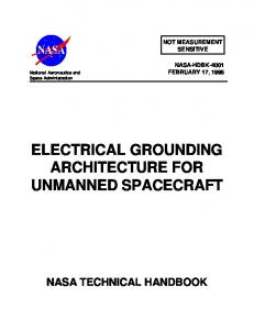ELECTRICAL GROUNDING ARCHITECTURE FOR UNMANNED SPACECRAFT