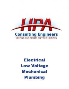 Electrical Low Voltage Mechanical Plumbing