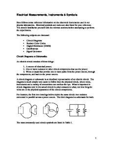 Electrical Measurements, Instruments & Symbols