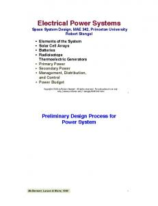 Electrical Power Systems!